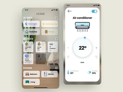 Smarthome smart home smart smarthome furniture ui uidesign graphic design design ux minimal art app