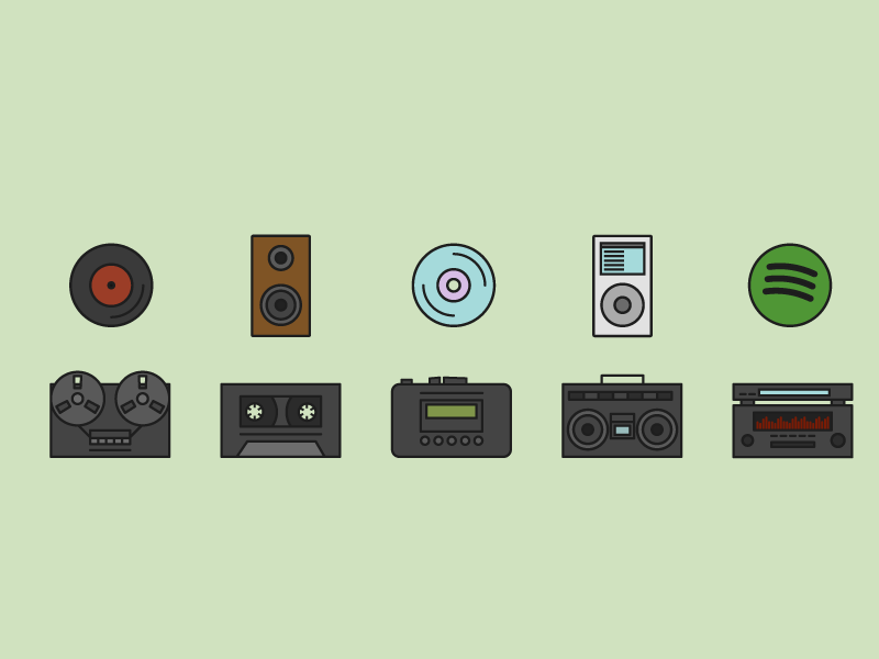 Music history icons new 01