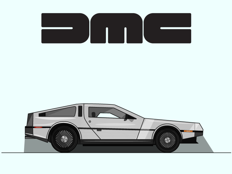 Delorean delorean dmc back to the future marty mcfly