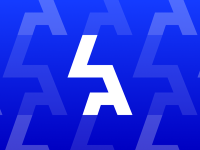 LA Monogram Logo Pattern 2020 world series team sports dodgers monogram pattern repeating logo los angeles