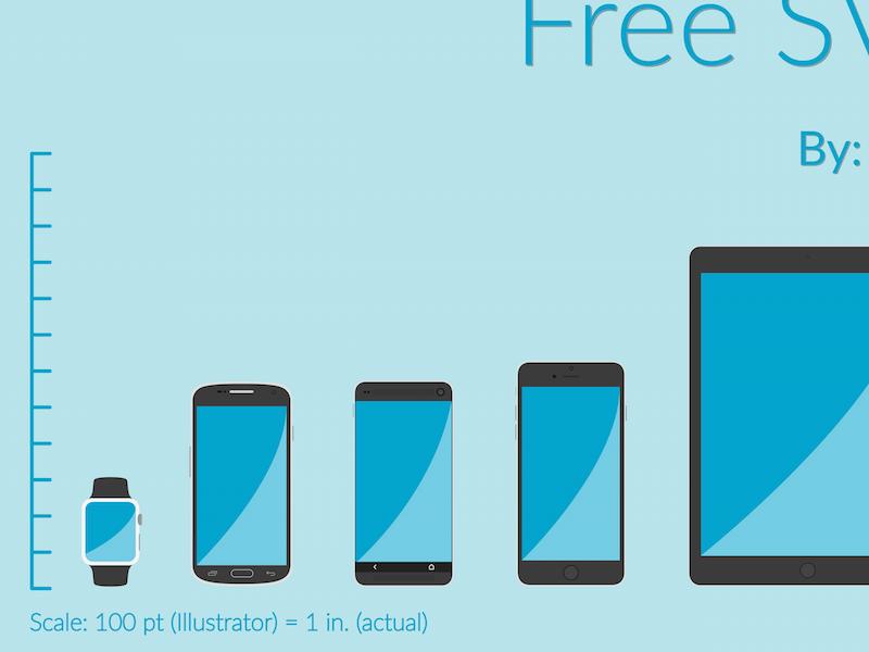 Free SVG Device Templates apple iphone htc m9 samsung galaxy s6 macbook ipad smartwatch free svg