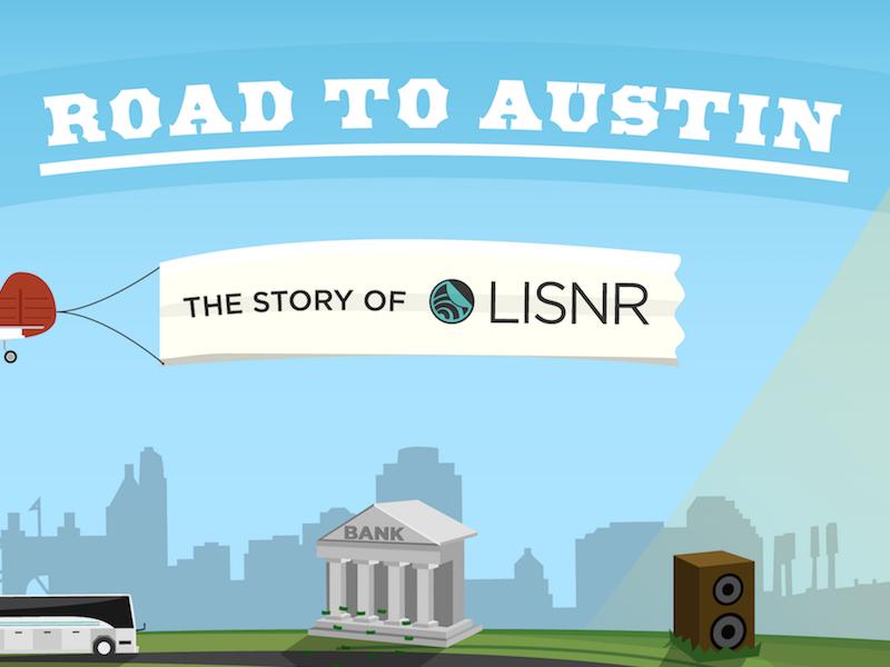 History of LISNR (Thus Far...) Infographic sxsw infographic lisnr illustration startup startupbus tech cincinnat