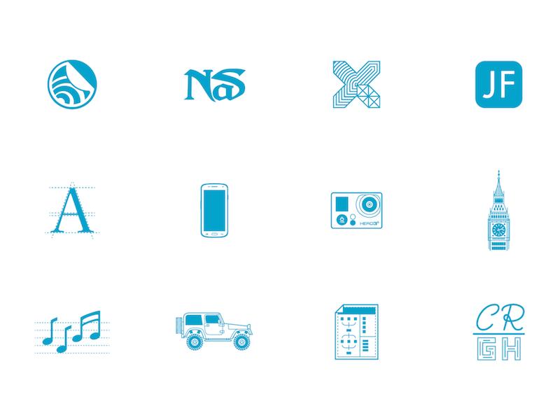 Portfolio Section Icons portfolio sxsw john frieda nas typography big ben jeep costa rica infographic