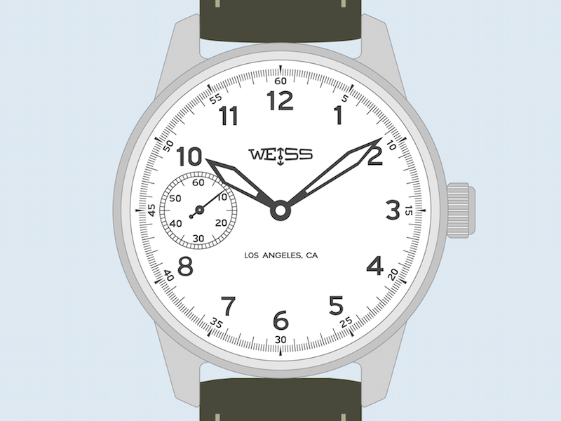 Weiss watch illustration front color dribbble