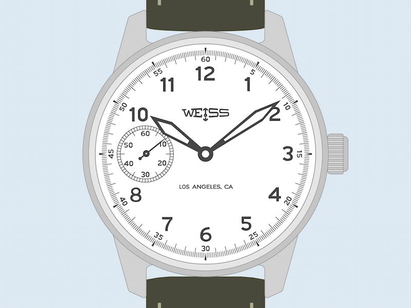 Weiss Standard Issue Field Watch watch illustration field khaki dial time