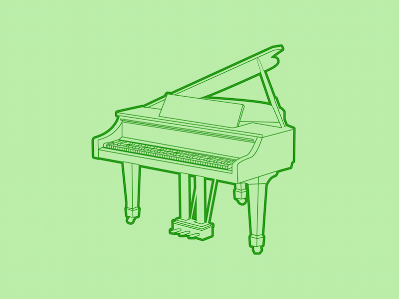 Grand Piano - 30 Minute Warmup line instrument flat wip drawing music piano grand illustration warmup