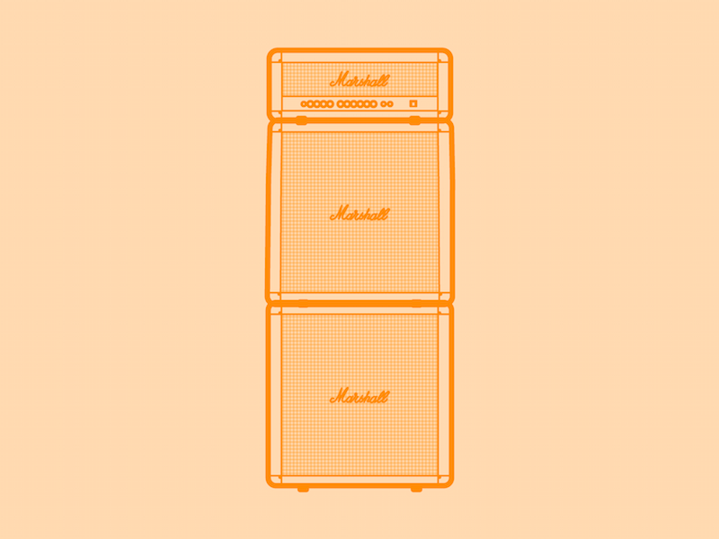 Marshall amp stack 30 minute warmup