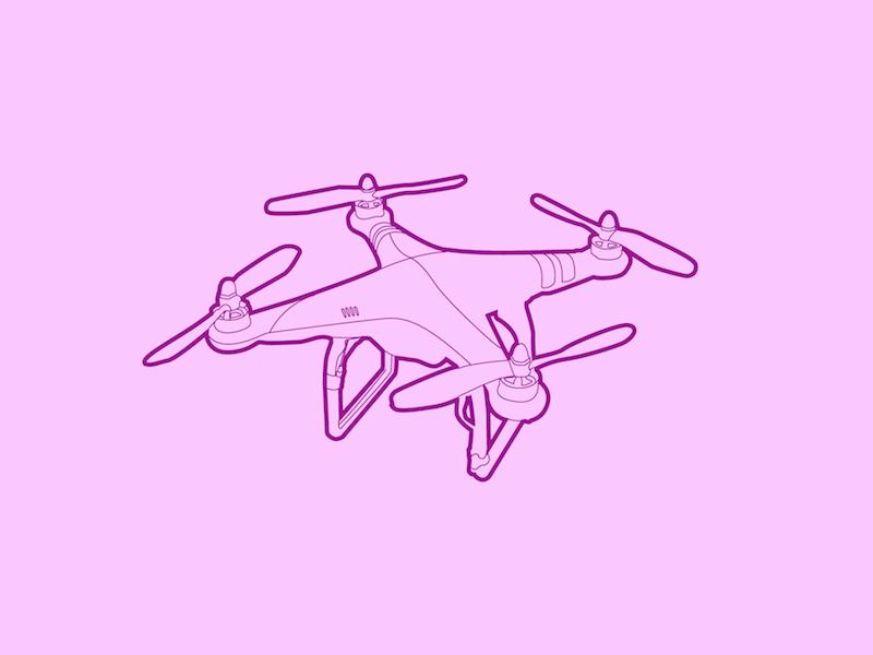 DJI Phantom - 30 Minute Warmup line flat wip drawing drone quadcopter phantom dji illustration warmup