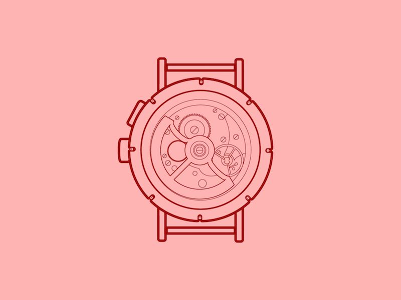 Nomos Tangomat GMT - 30 Minute Warmup drawing wip warmup illustration tangomat mechanical nomos watch gmt