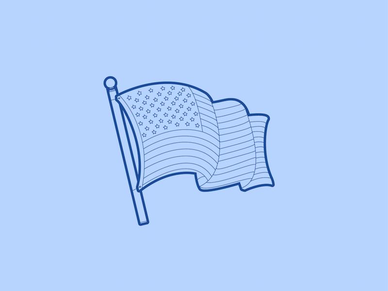 American Flag - 30 Minute Warmup patriot holiday memorial flag american illustration warmup wip drawing