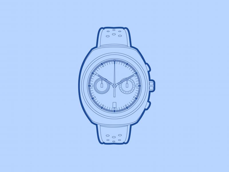 Autodromo Prototipo - 30 Minute Warmup prototipo watch autodromo mechanical chronograph illustration warmup wip drawing
