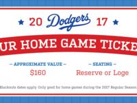 Fundraiser LA Dodgers Ticket Coupon