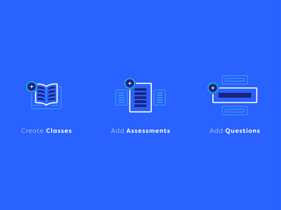 Course Icons ui school assignment question assessment add class create