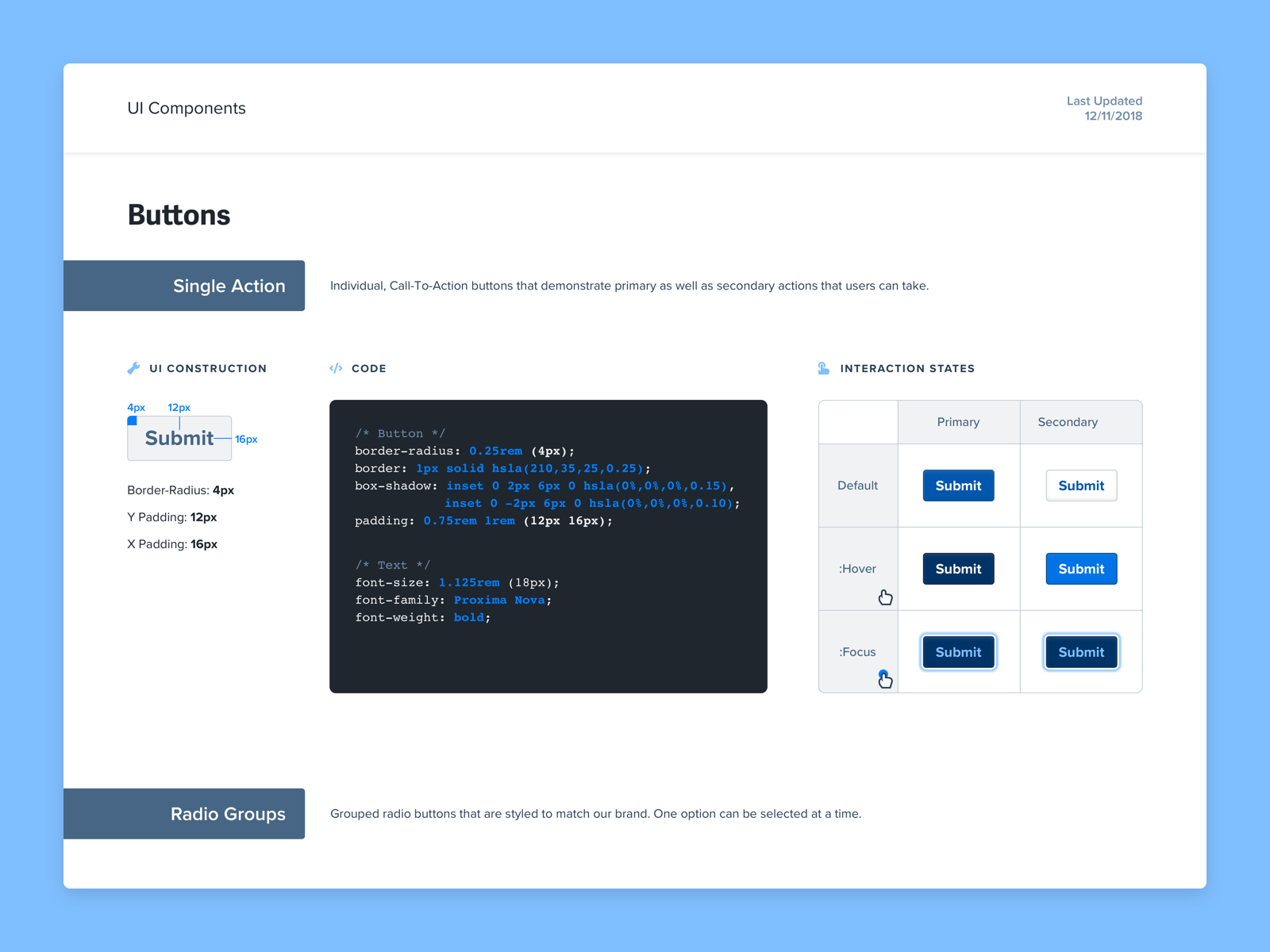 Design System Ui Components Wip By Max Burnside On Dribbble