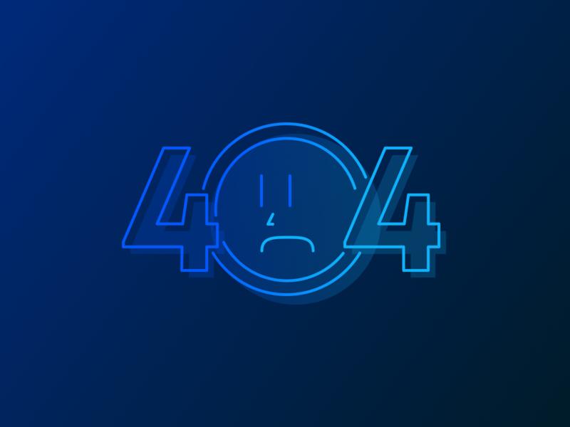 404 Face error state 404 dark blue dark gradient nose error frown sad