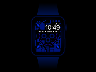 Apple Watch X-Ray Wallpaper (Free Download) vector technology minimal color space iphone p3 blue line contrast oled dark