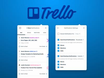 Trello Notifications Re-Design
