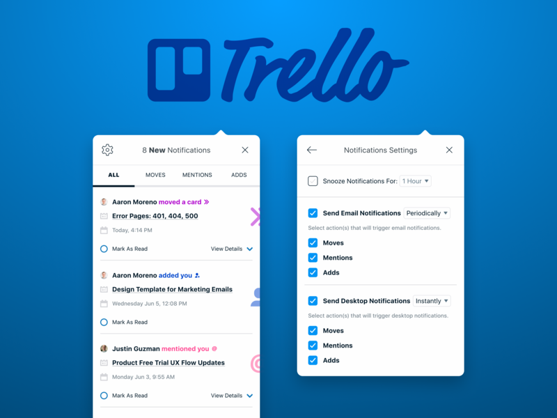 Trello Notifications Re-Design product management overlay modal notification trello design challenge mid fidelity thought process ux design ux
