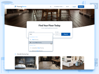 FlooringStores Home Page Search Interaction