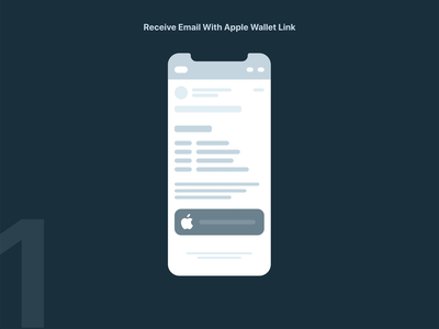 iOS Apple Wallet Interaction Design Concept email touch payment pay mobile iphone interactive userinteraction adobe xd wireframe ux add generic pass wallet ios apple animation product design