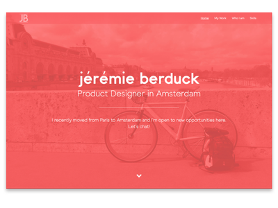 JeremieBerduck.com portfolio website