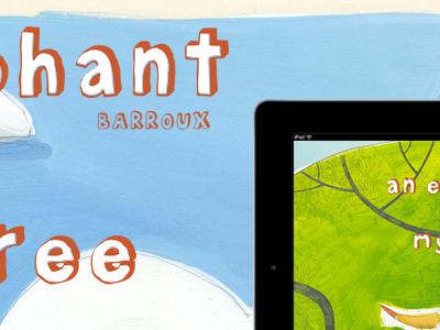 An elephant in my tree webdesign ipad app