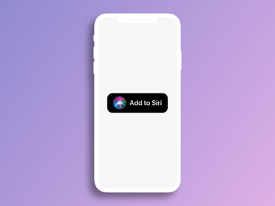 Add to Siri - Sketch library