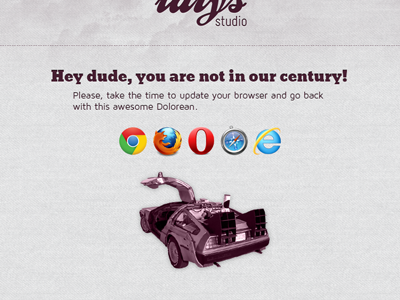 Teasing #2 : IE 7 users, we have a message for you ! ie idlys studio webdesign