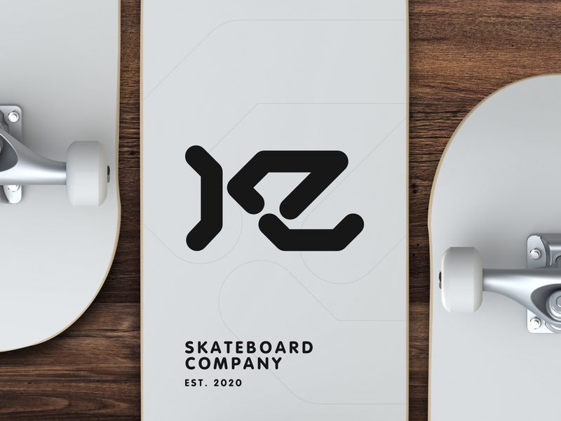 KZ Skateboard Company logo deck skateboarding