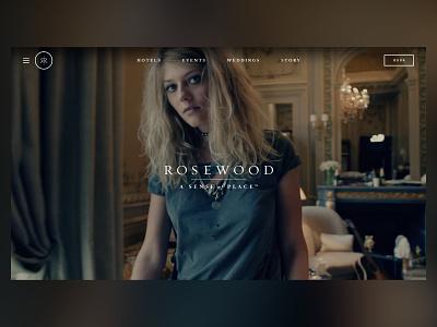 Rosewood Hotels & Resorts ui design typography web design