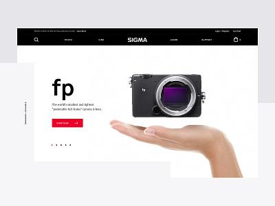 Sigma Photo e-commerce web design
