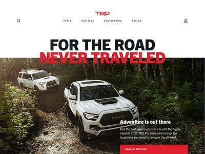 Toyota TRD website web design ui design