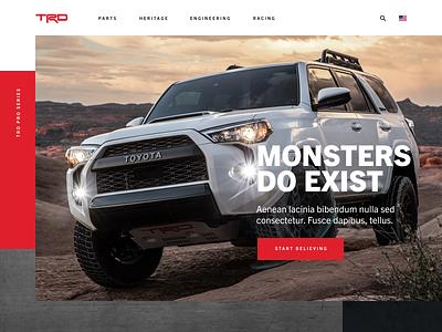 Toyota TRD website ui design web design