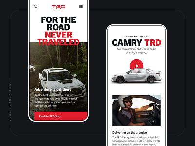 Toyota TRD mobile design mobile ui web design ui design