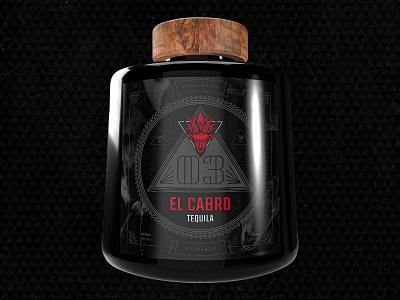 El Cabro Tequila photoshop illustrator bottle design bottle label logo design typography