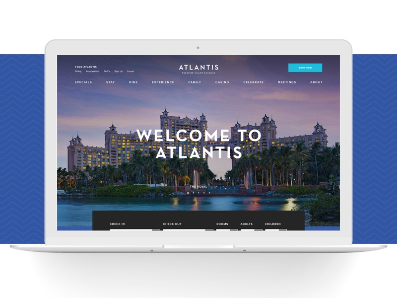 Atlantis Resorts uidesign resort ui website