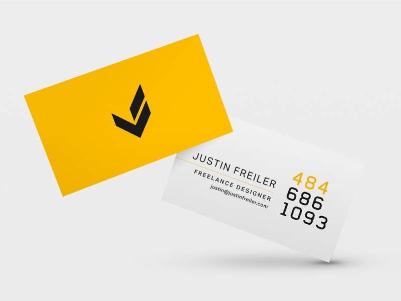 Justin Freiler Business Card layout logo typography bizcard business card