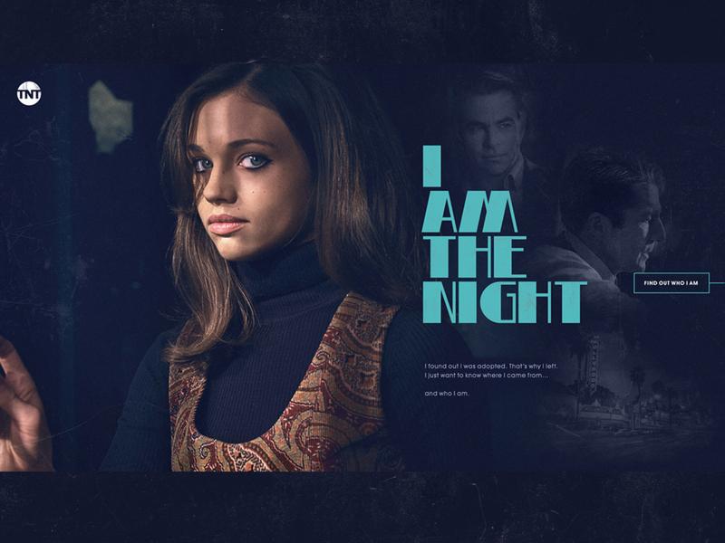 I Am The Night dark grunge typography web design webdesign web site website tnt tv show