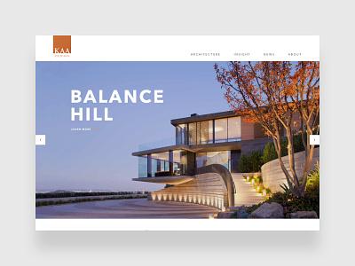 KAA Design typography architecture ui design uidesign webdesign web design website