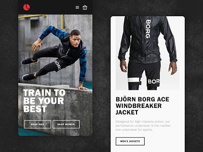 Bjorn Borg mobile website fashion sports ecommerce e-commerce sportswear clothing