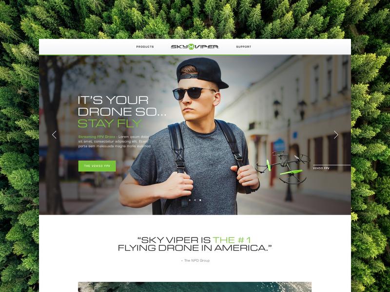 Sky Viper desktop retail drone drones e-commerce ecommerce pdp