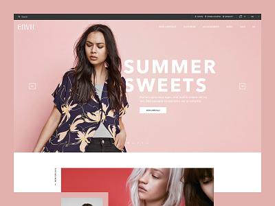 Envii web design website fashion retail e-commerce