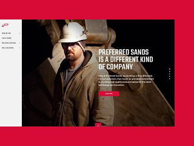 Preferred Sands ui design ux design web design website