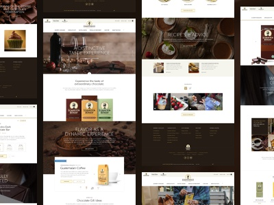 Scharfen-Berger Chocolate chocolate bar choclates ui design web design website retail