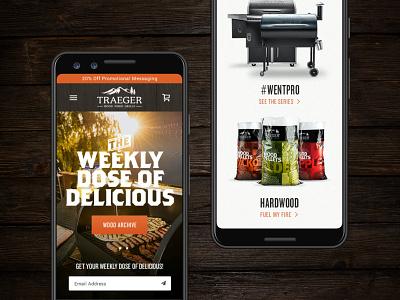 Traeger Wood Fired Grills e-commerce website web design ecommerce