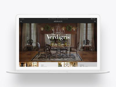 Arhaus Furniture furniture website furniture store furniture retail web design website