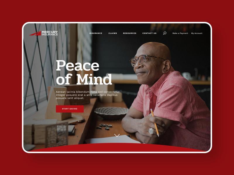 Mercury Insurance ui website web design corporate branding corporate design ui design