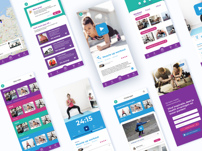 Fitness app branding product design product des app ux ui