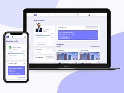 Mobile friendly Dashboard - Employers & Employees dashboard dashboard design digital product interaction design design ux ui app app design