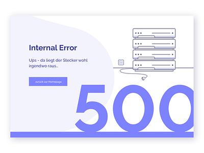 Illustrative 500 internal error page web design design illustration 500 page ux ui